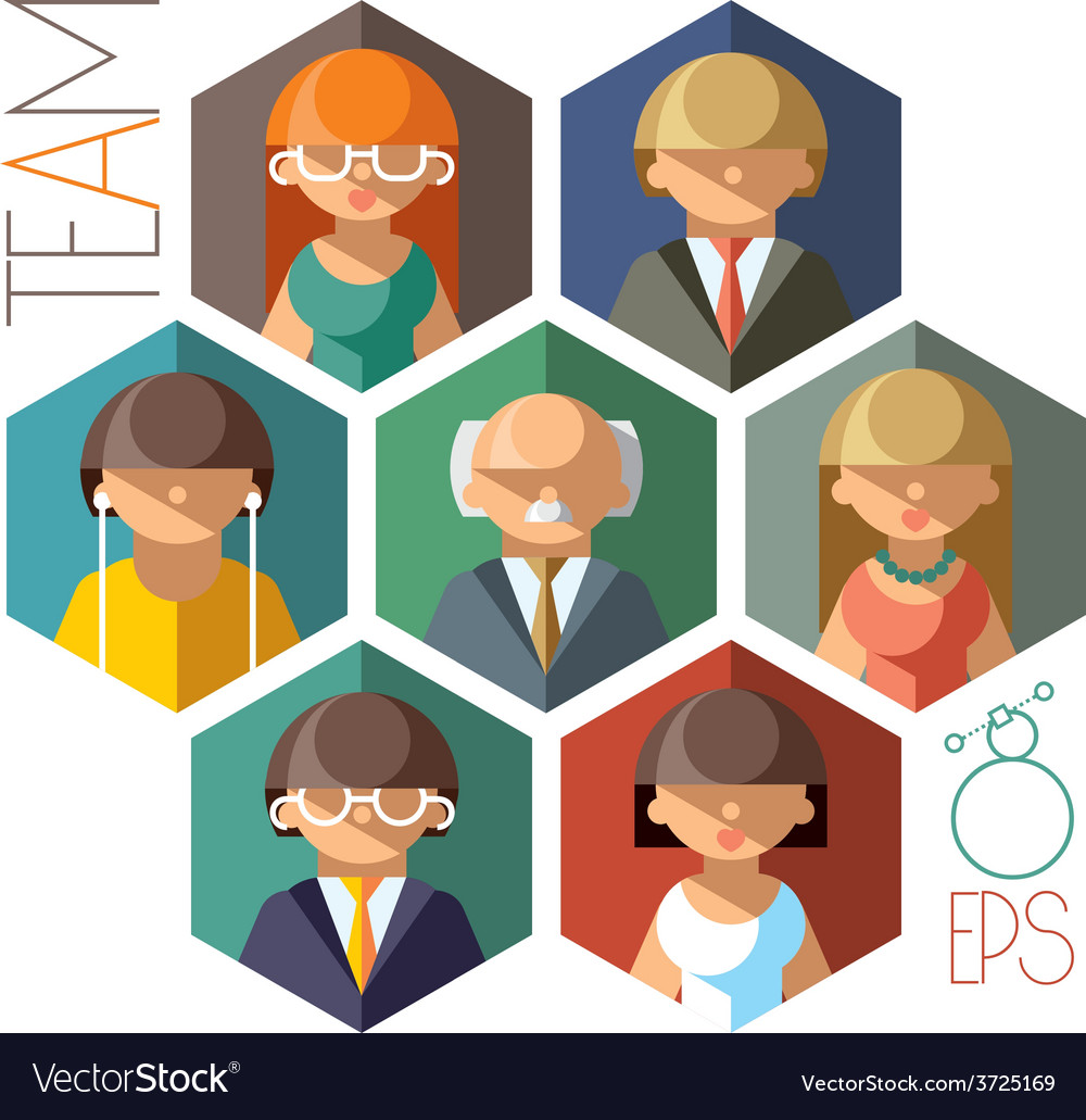 Office Team vector image