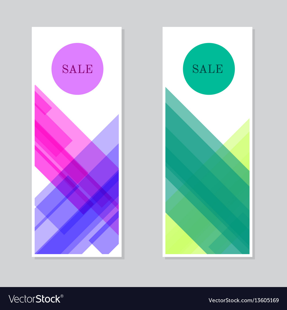 Set of sale banners design