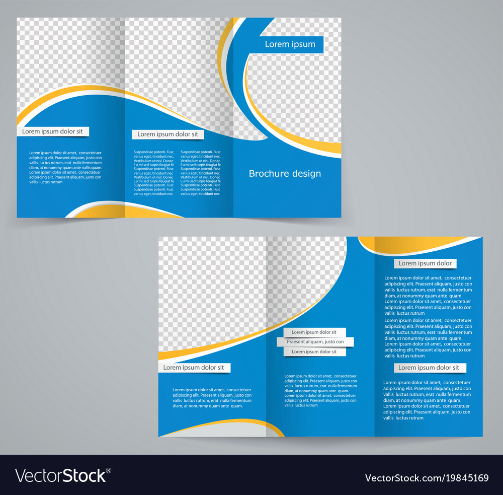 Tri fold business brochure template royalty free vector tri fold business brochure template vector image wajeb Images