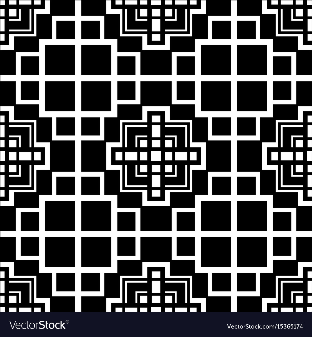 Abstract art deco black geometric ornamental
