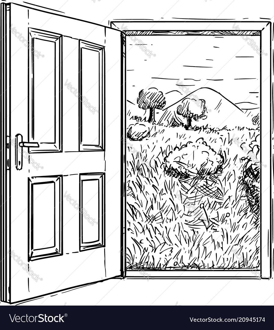 closed door drawing. Closed Door Drawing R