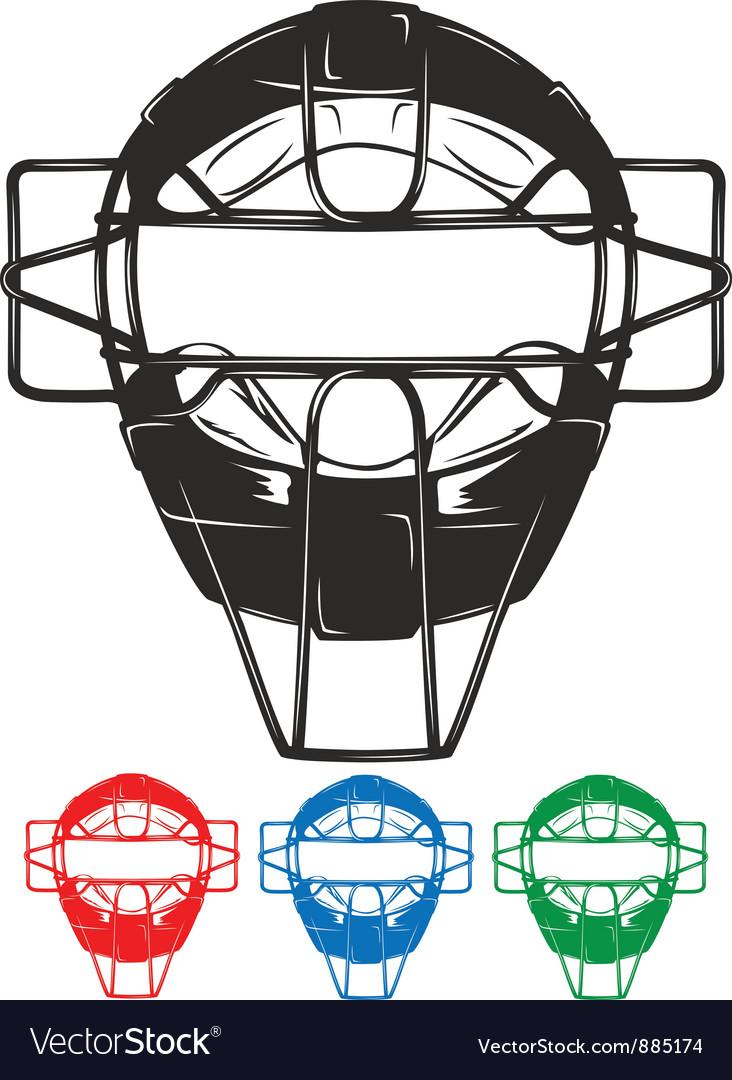 Baseball mask vector image