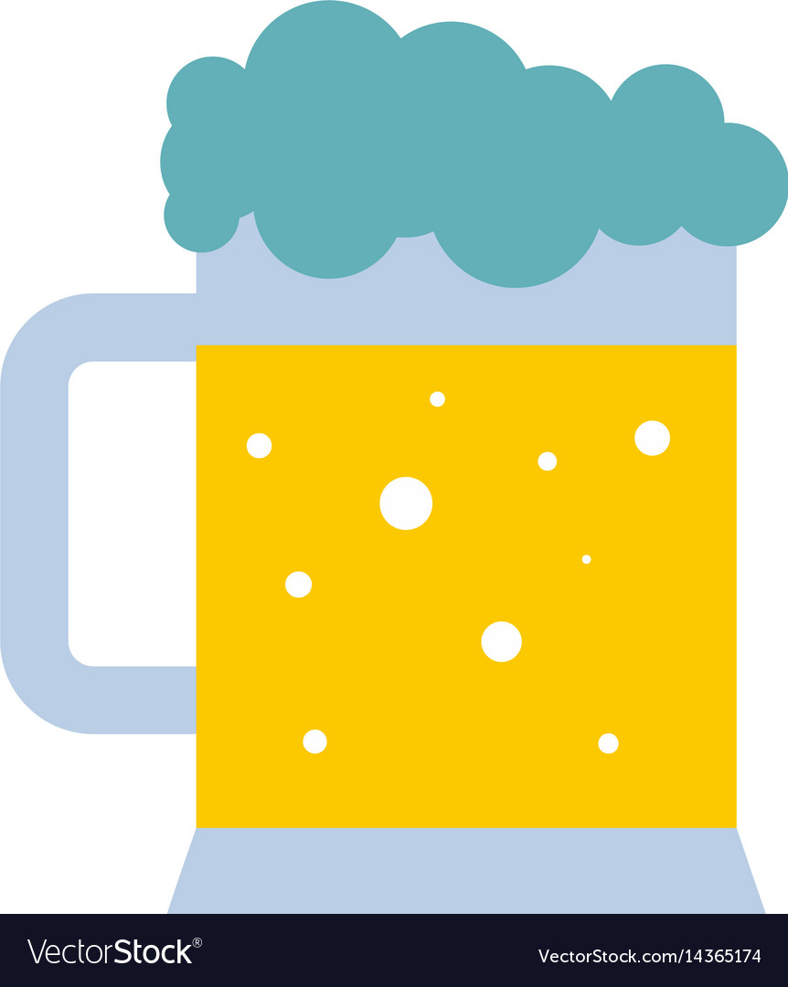 Mug of beer icon isolated vector image