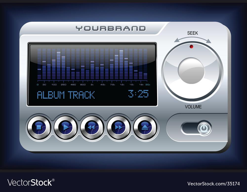 Music player with spectrum analyzer