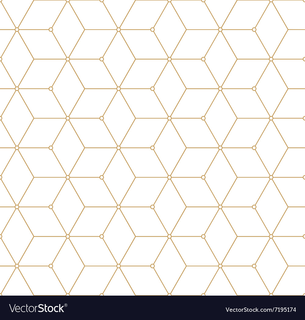 Retro Pattern with Golden Squares