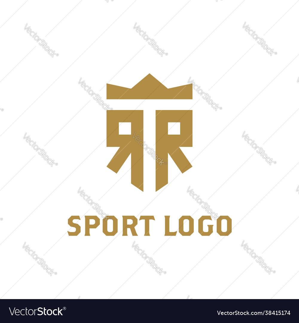 Rr logo r r initial logo with crown elegant