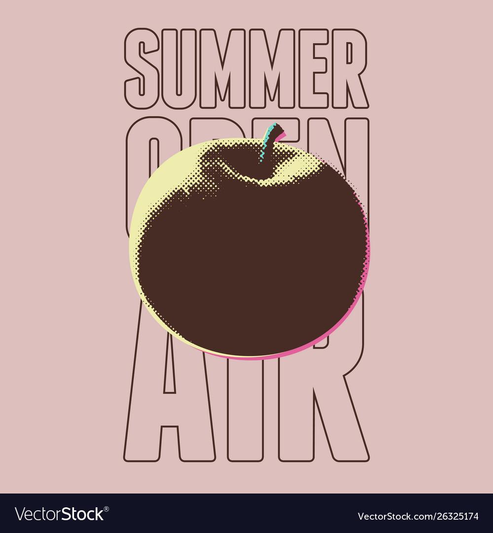 Summer open air fest retro grunge pop-art poster