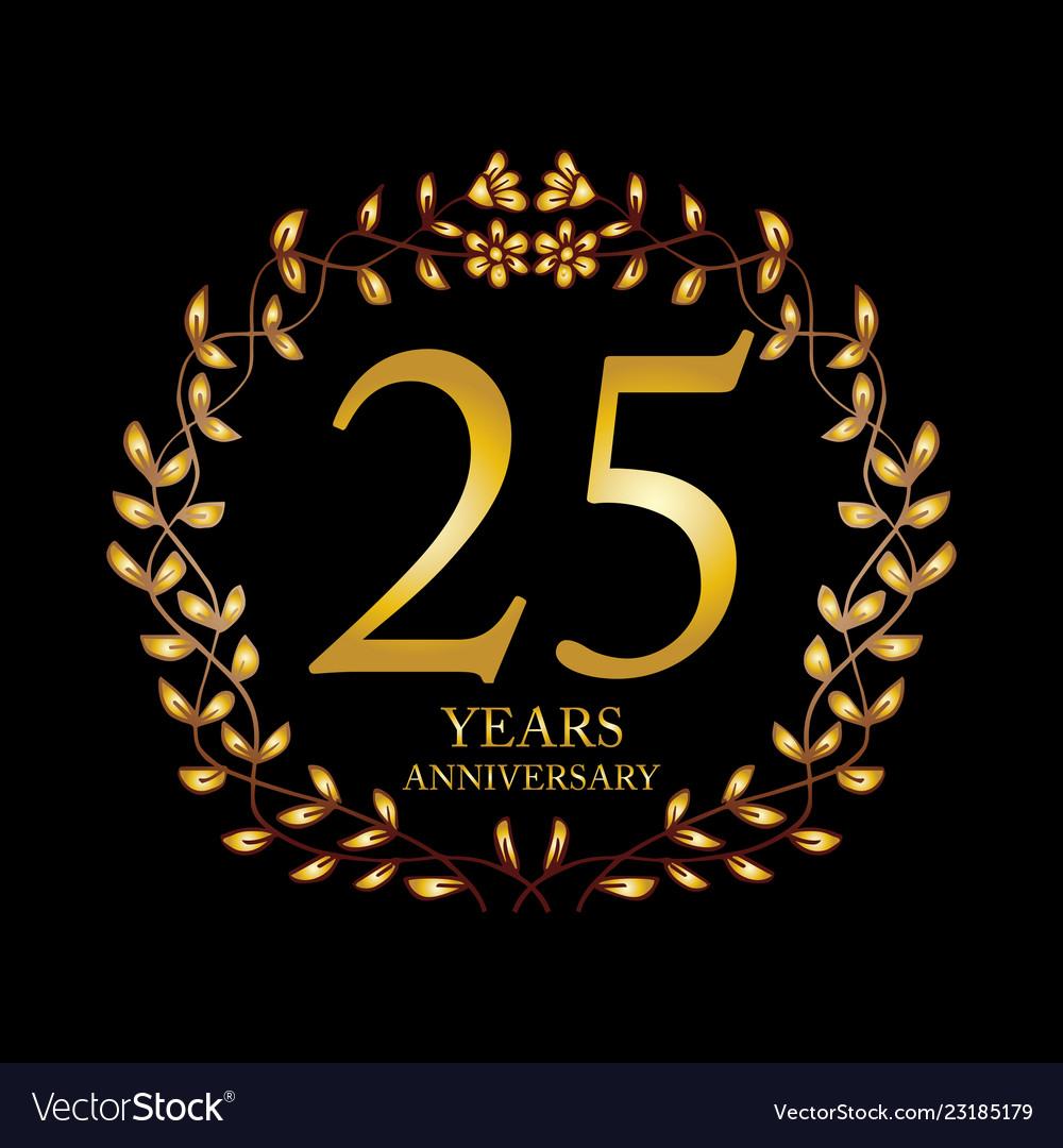 25 year anniversary celebration card