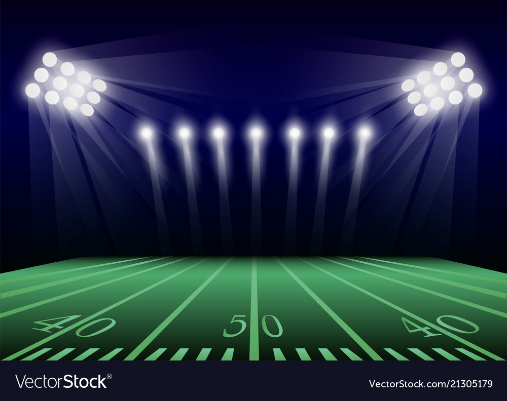 American Football Graphic Art Backgrounds: American Football Field Concept Background Vector Image