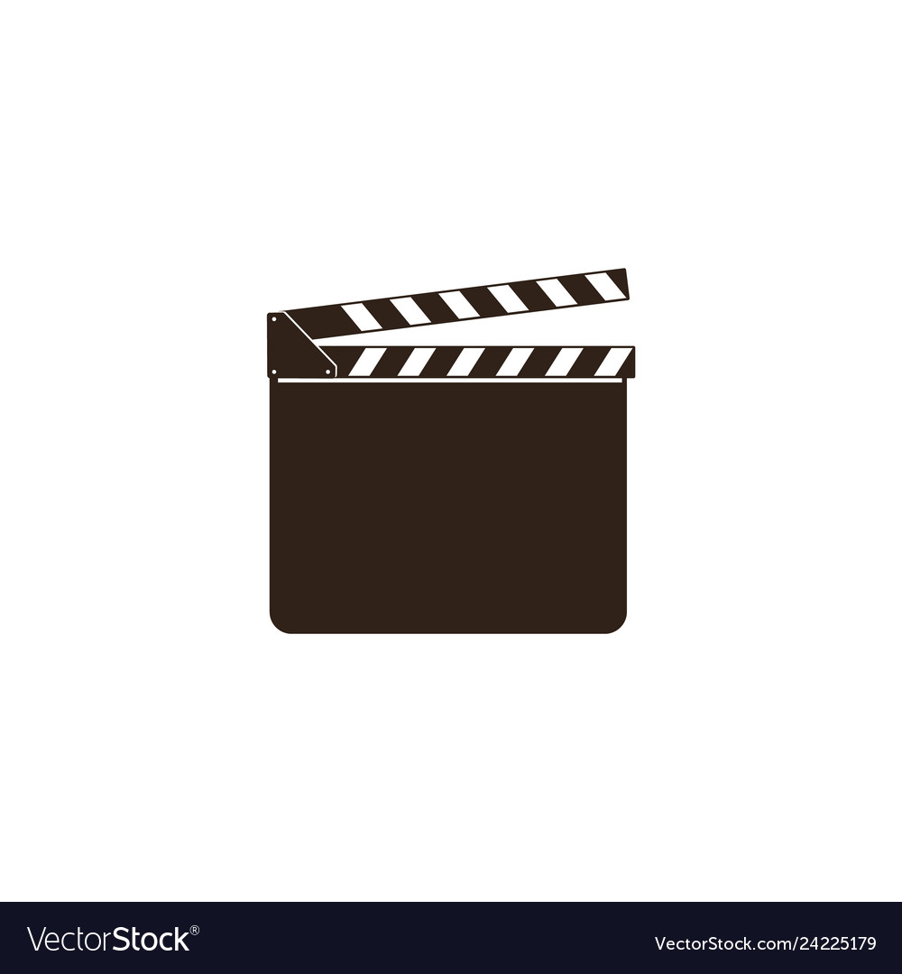 Blank movie clapper clapboard black open