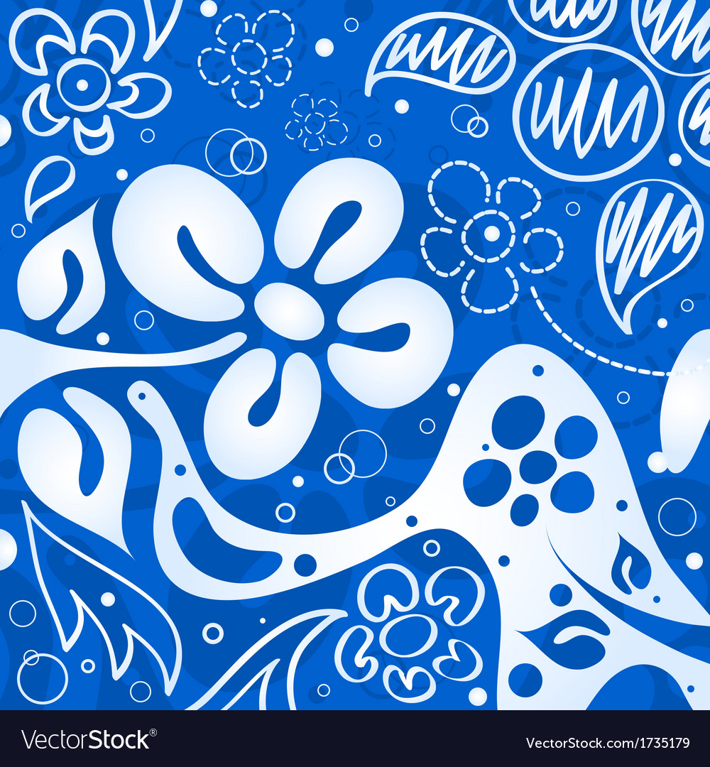 Blue Flowers Background Royalty Free Vector Image
