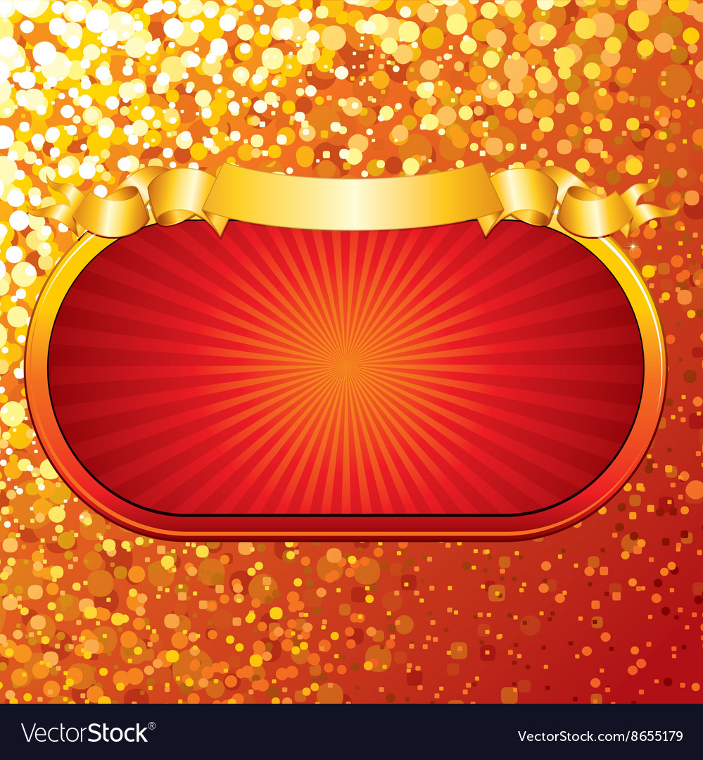 Bright Retro Gold Sign vector image