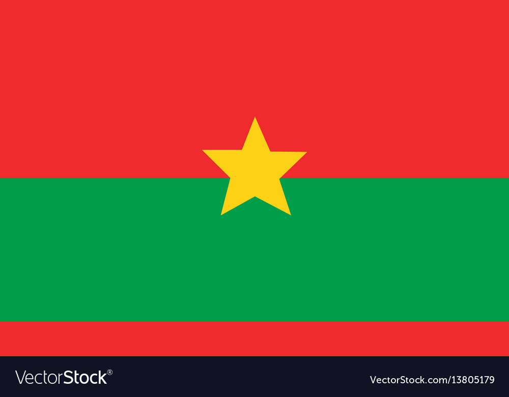 Burkina faso flag for independence day and