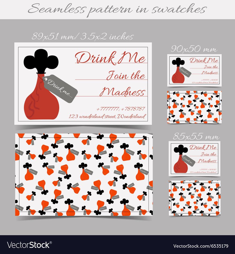 Cards Templates Drink Me Bottle from Wonderland