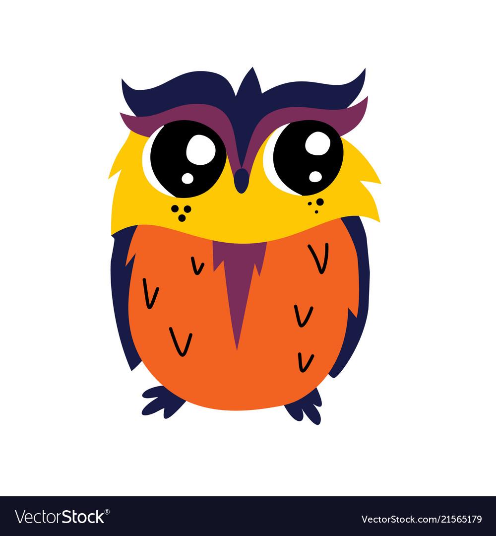 Cute cartoon owl icon