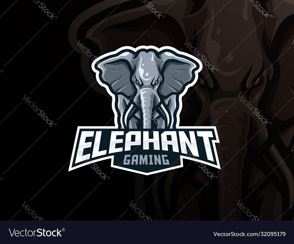 Elephant mascot sport logo design
