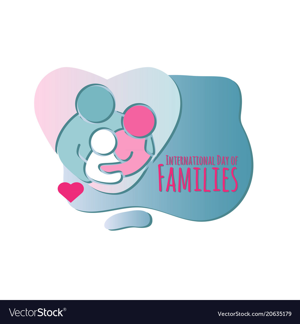 Family icon international day of families vector image