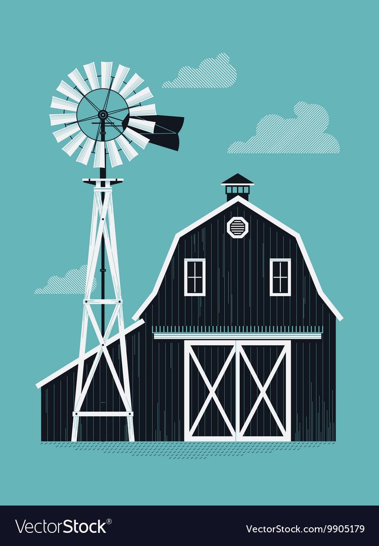 Farm Barn vector image