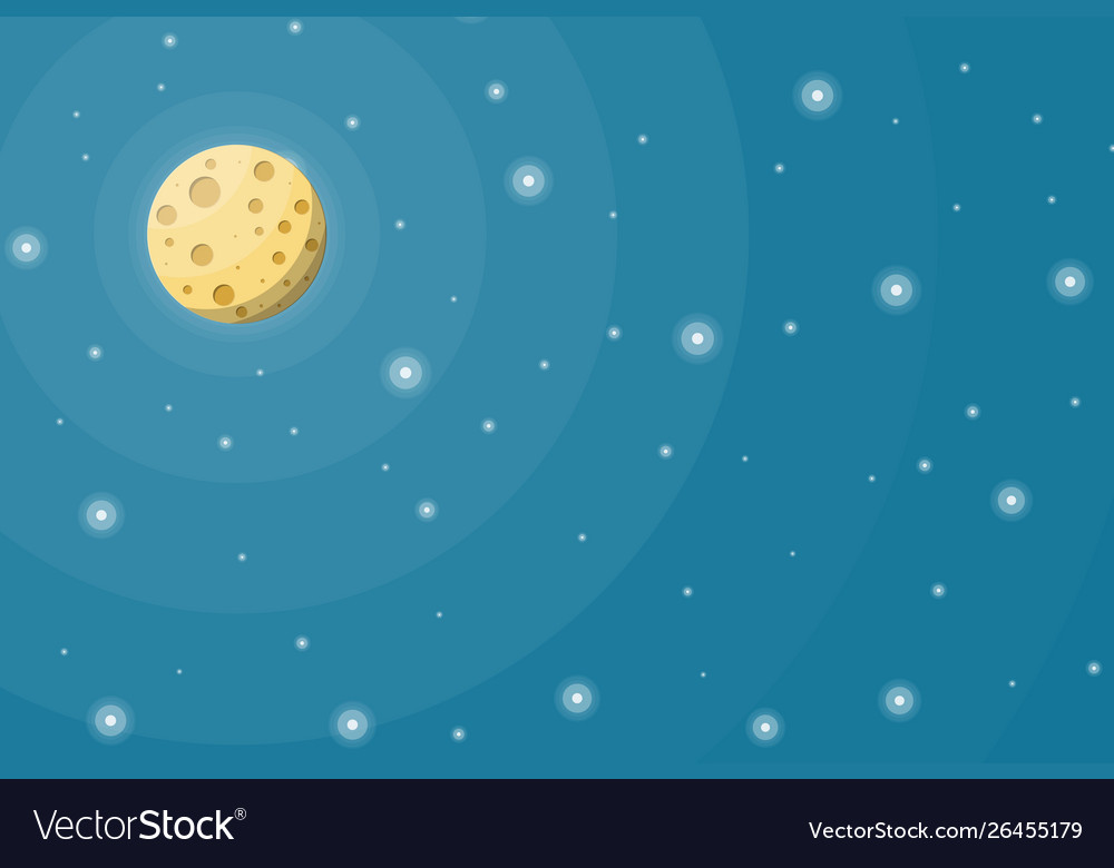 Fullmoon in night sky with stars