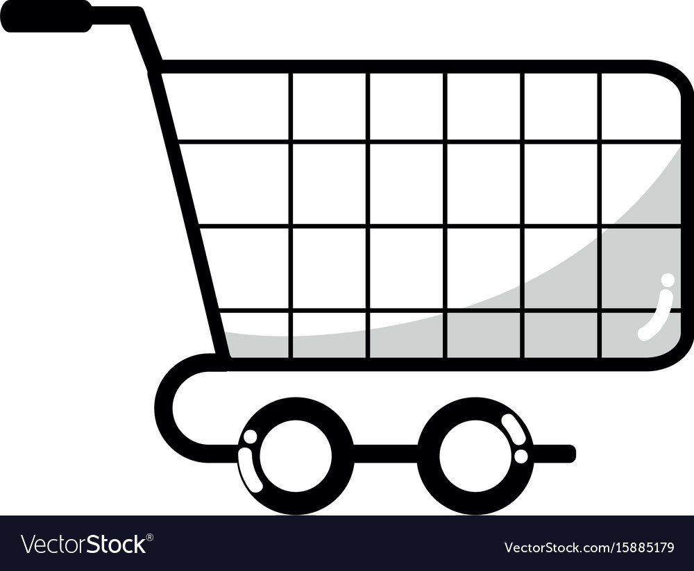 Line Shopping Car To Website Buy Icon Royalty Free Vector