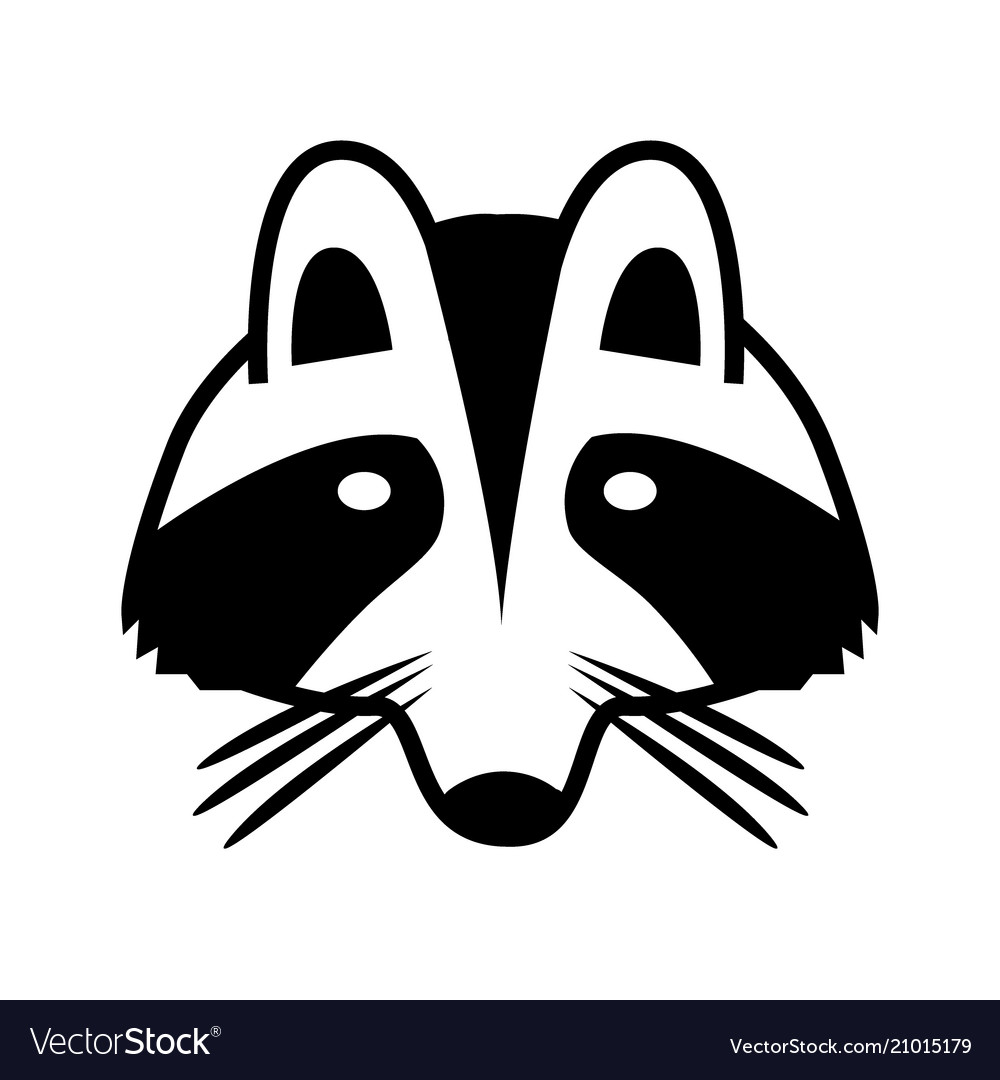 Logo a raccoon face isolated image