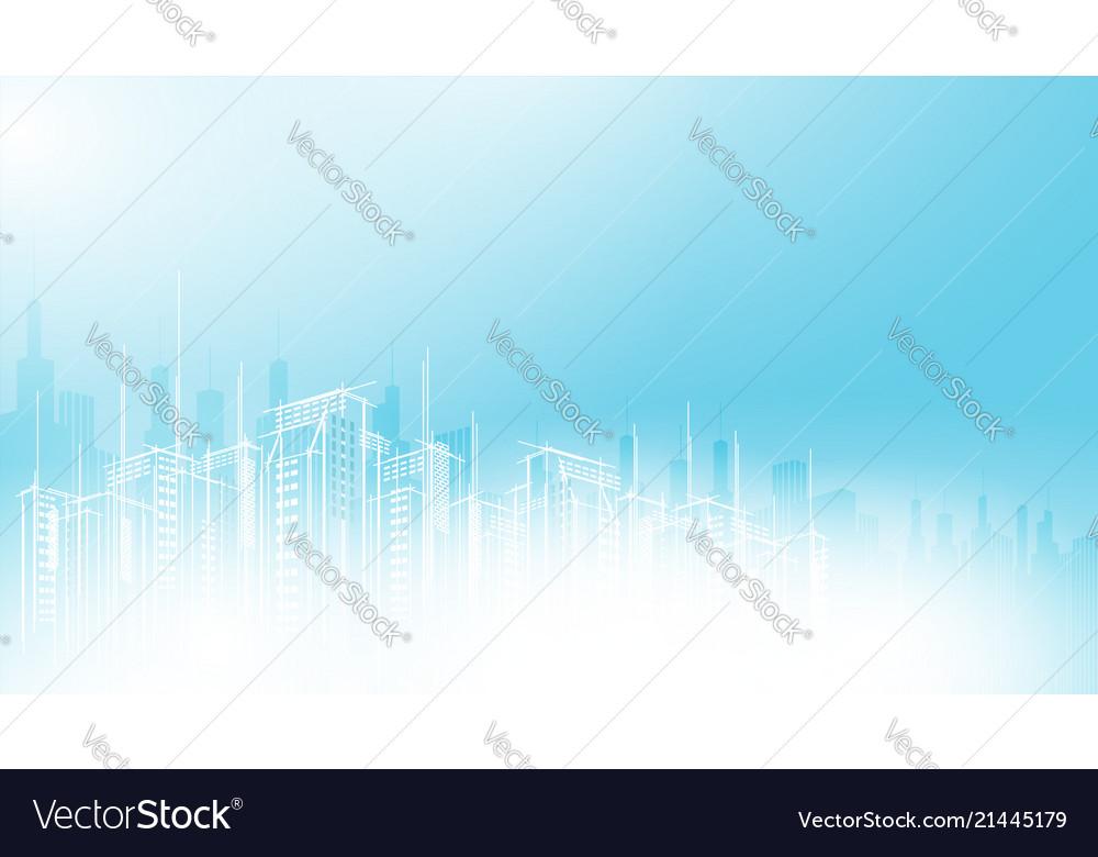 Modern city scape sky scraper background