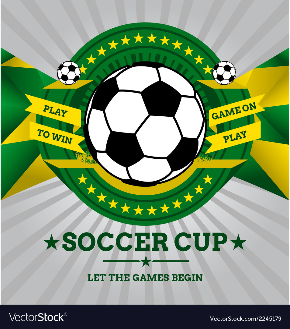 Soccer Emblem with Geometric Background in Brazil