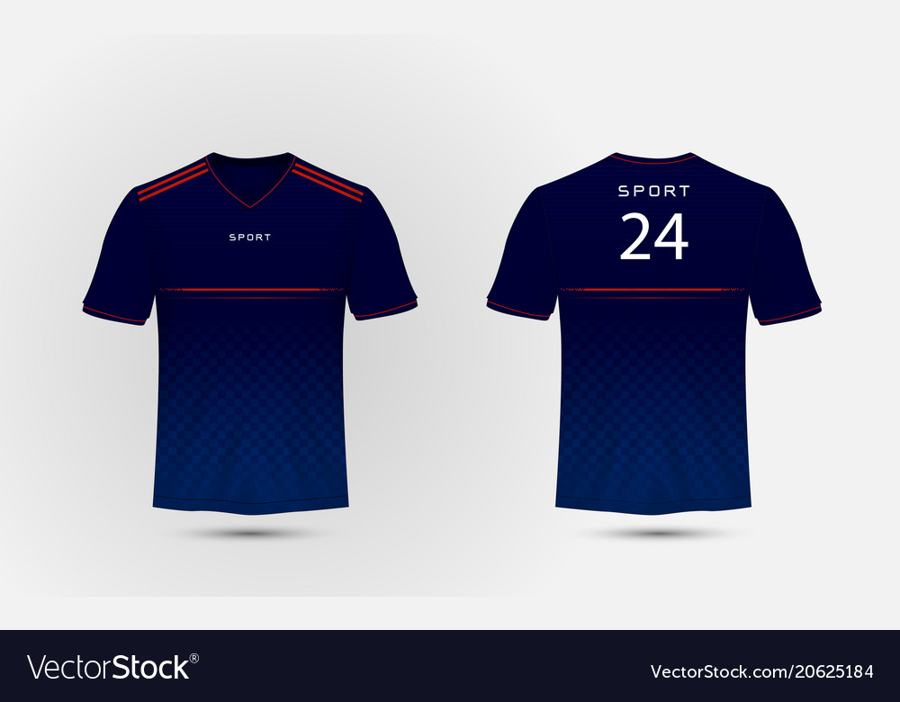 Blue white and red lines layout football sport