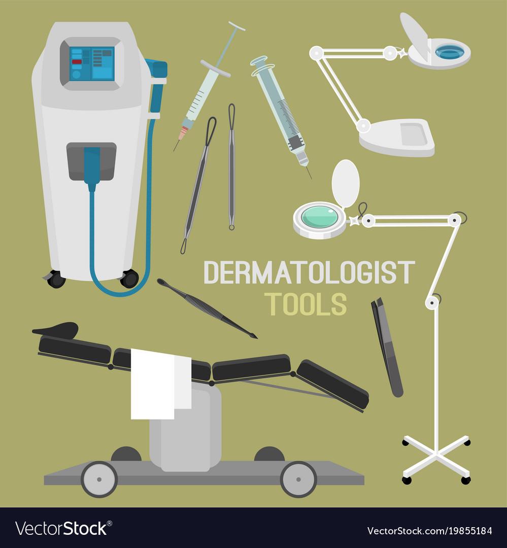 Dermatologist equipment set