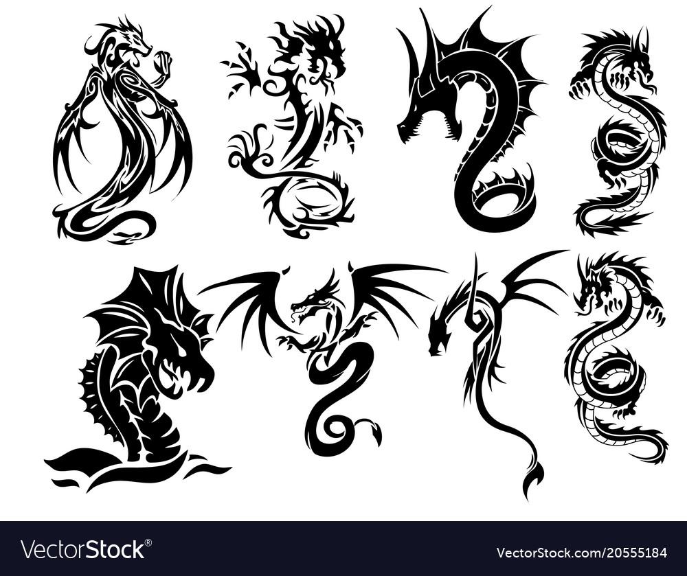 Dragon Tattoo Set
