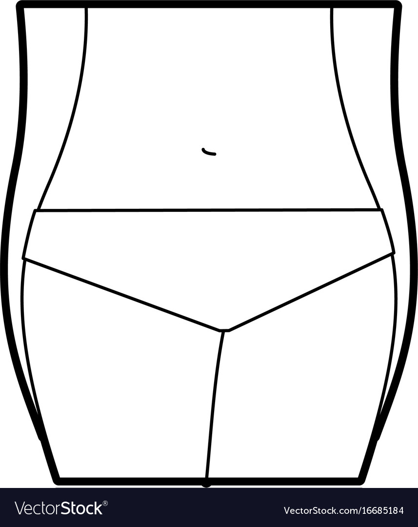 Female torso anatomy silhouette Royalty Free Vector Image