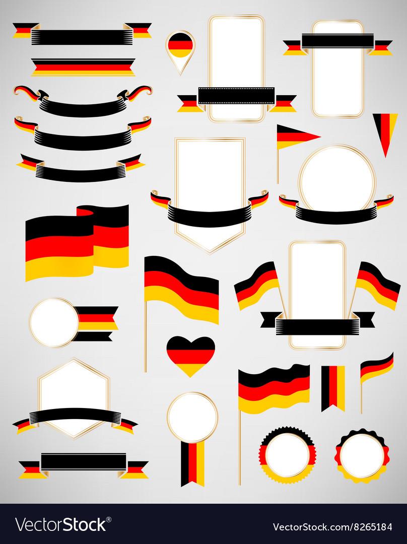 Germany flag decoration elements