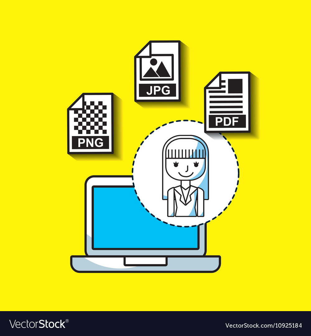 management of electronic formats royalty free vector image