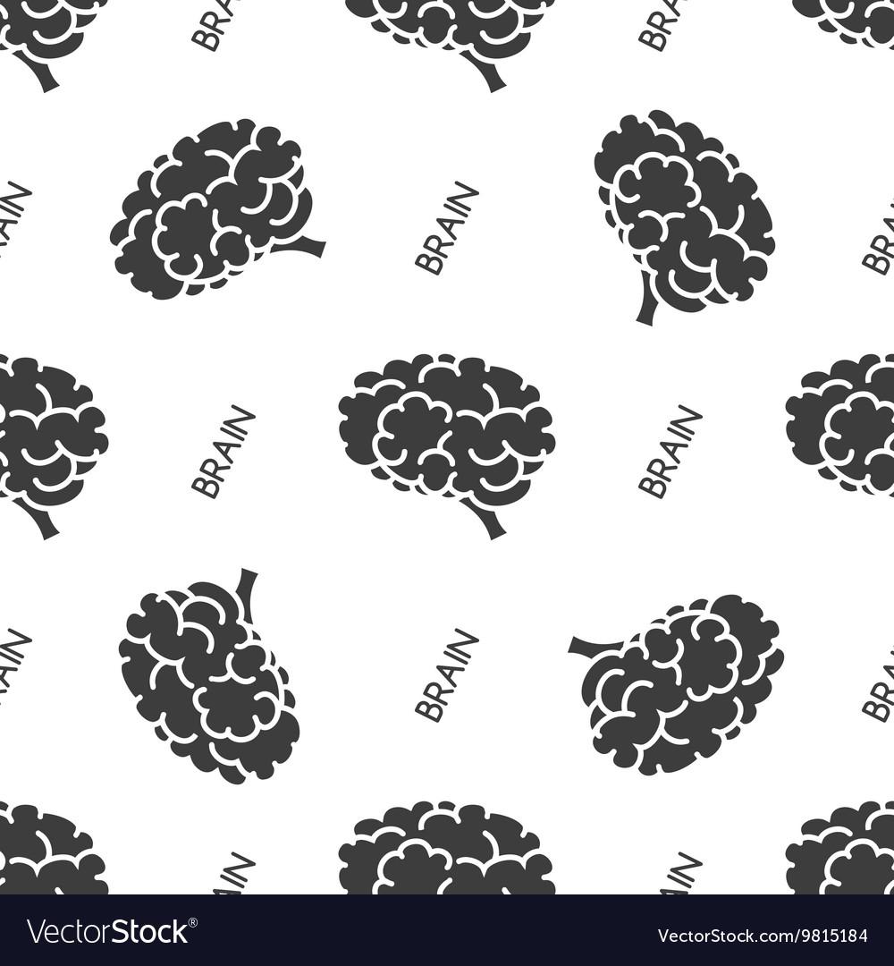 Seamless pattern with brain