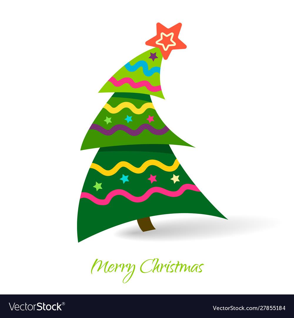 Simple christmas tree design elements