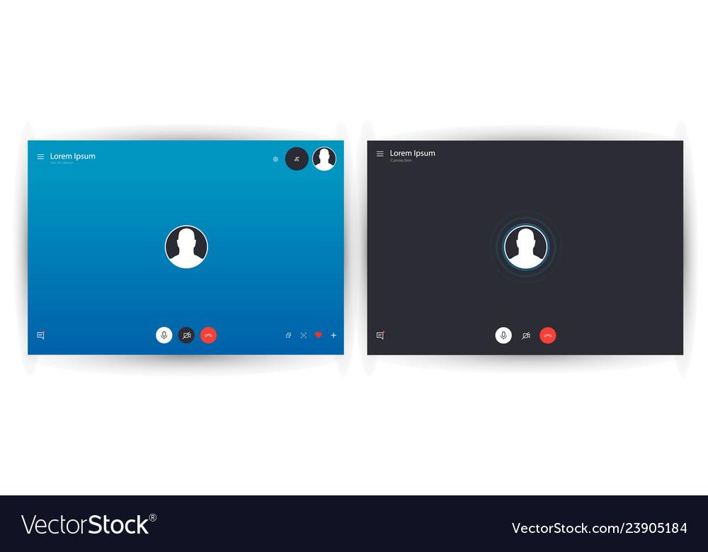 Skype call screen template mobile skype layout