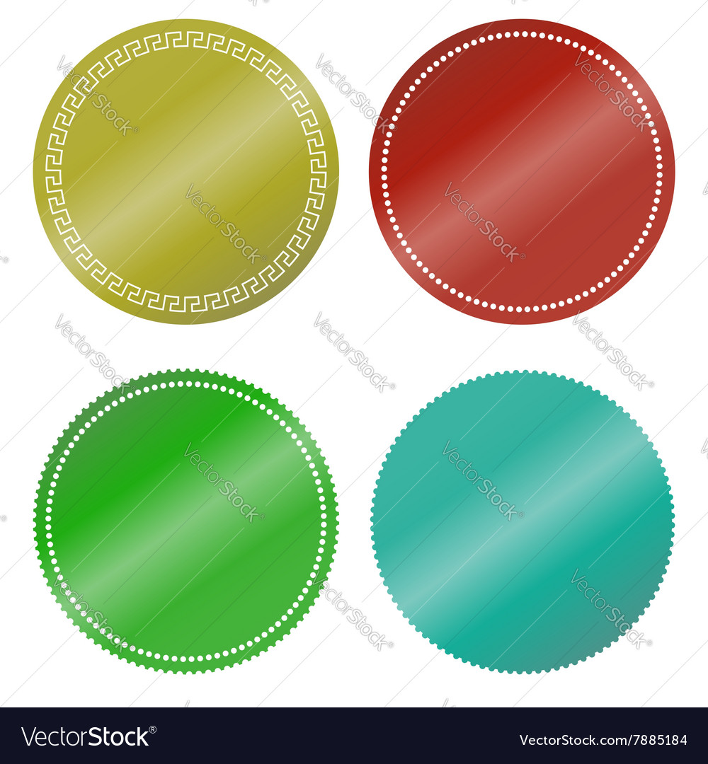 Stickers color blank