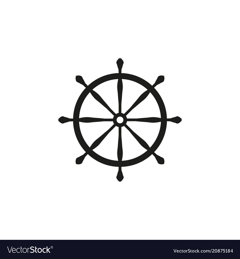 Wheel ship icon