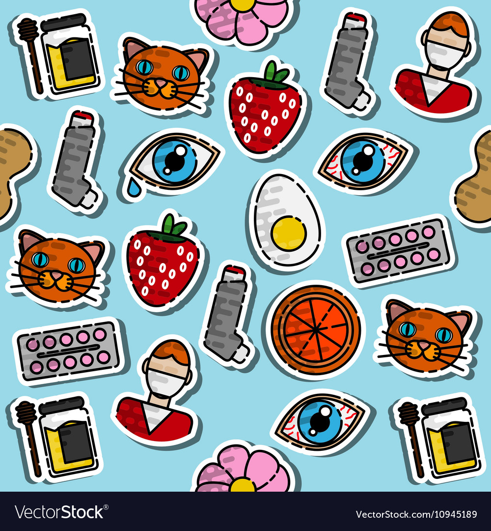 Colored Allergy icon pattern