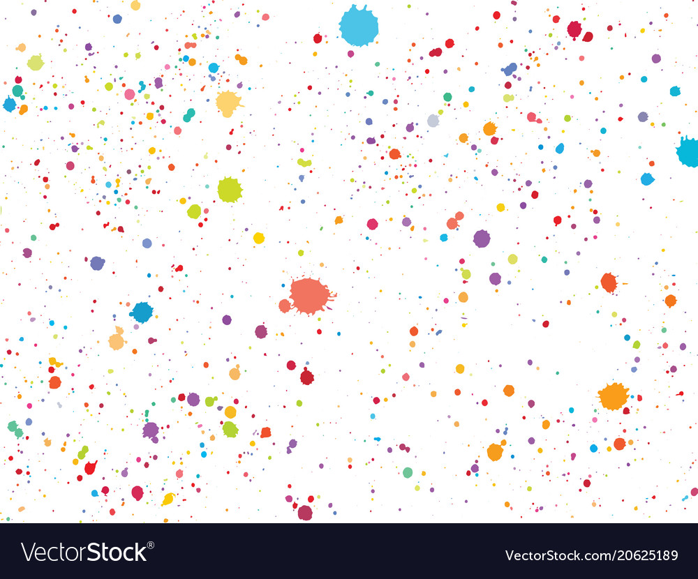 Colorful round confetti isolated on white