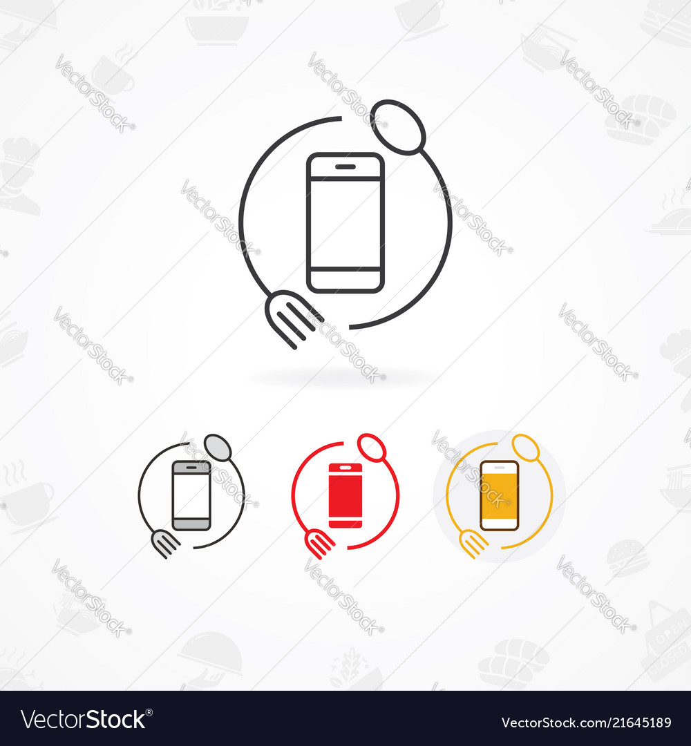Food mobile app icon