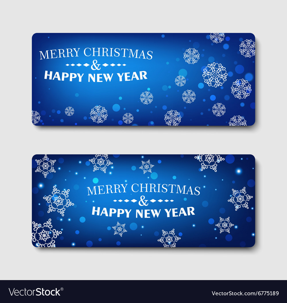 Merry Christmas banner design background set