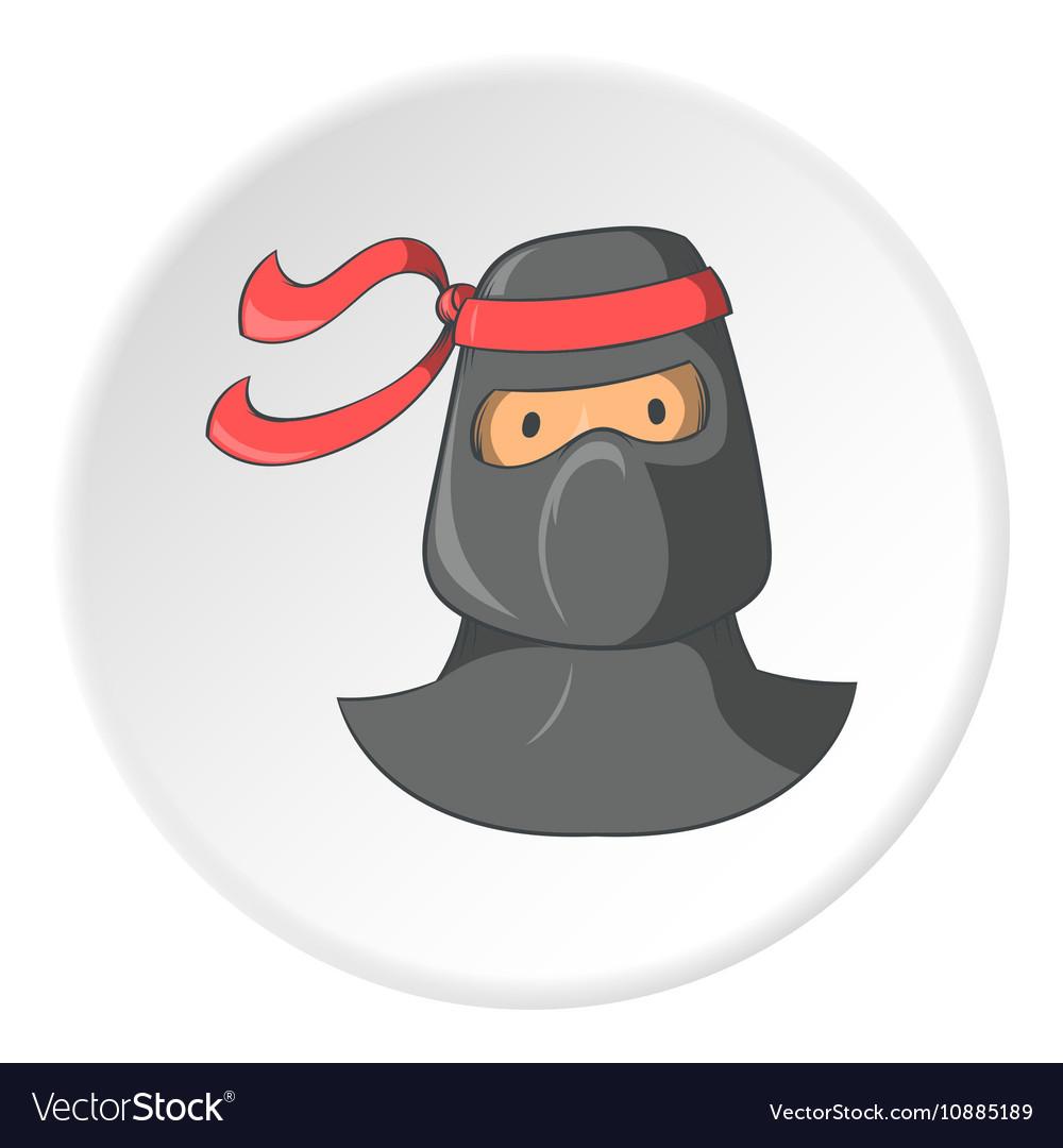 Ninja icon cartoon style