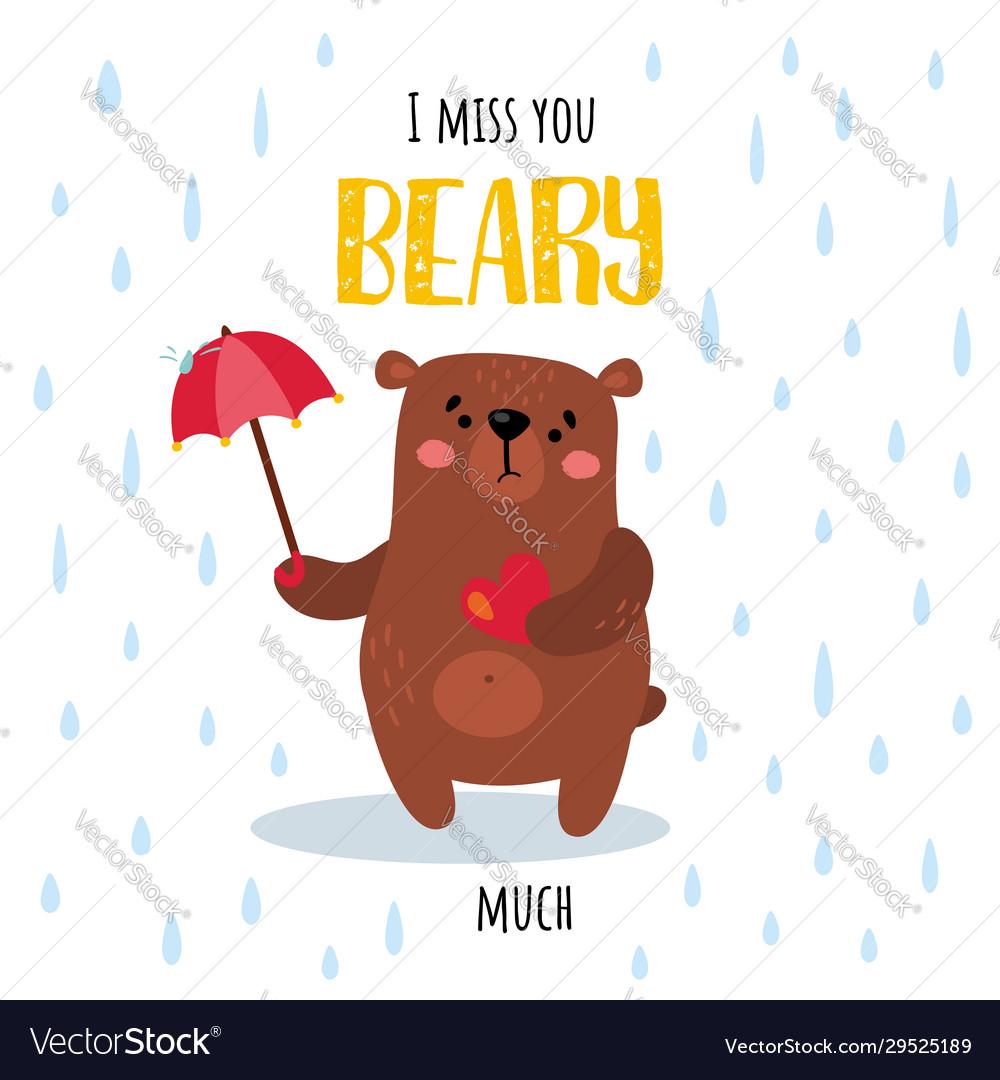 Rainy beary