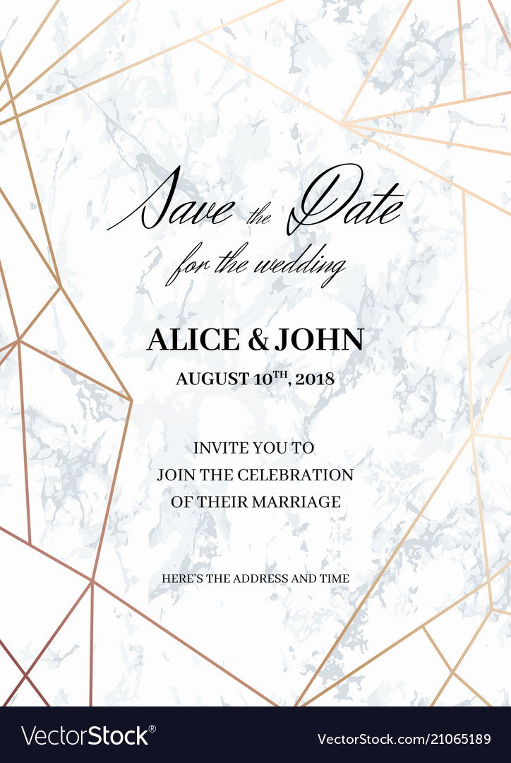 Wedding Invitations Template Of Geometric Design