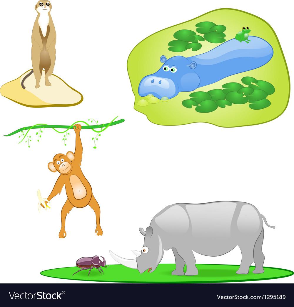 Wild animals set vector image