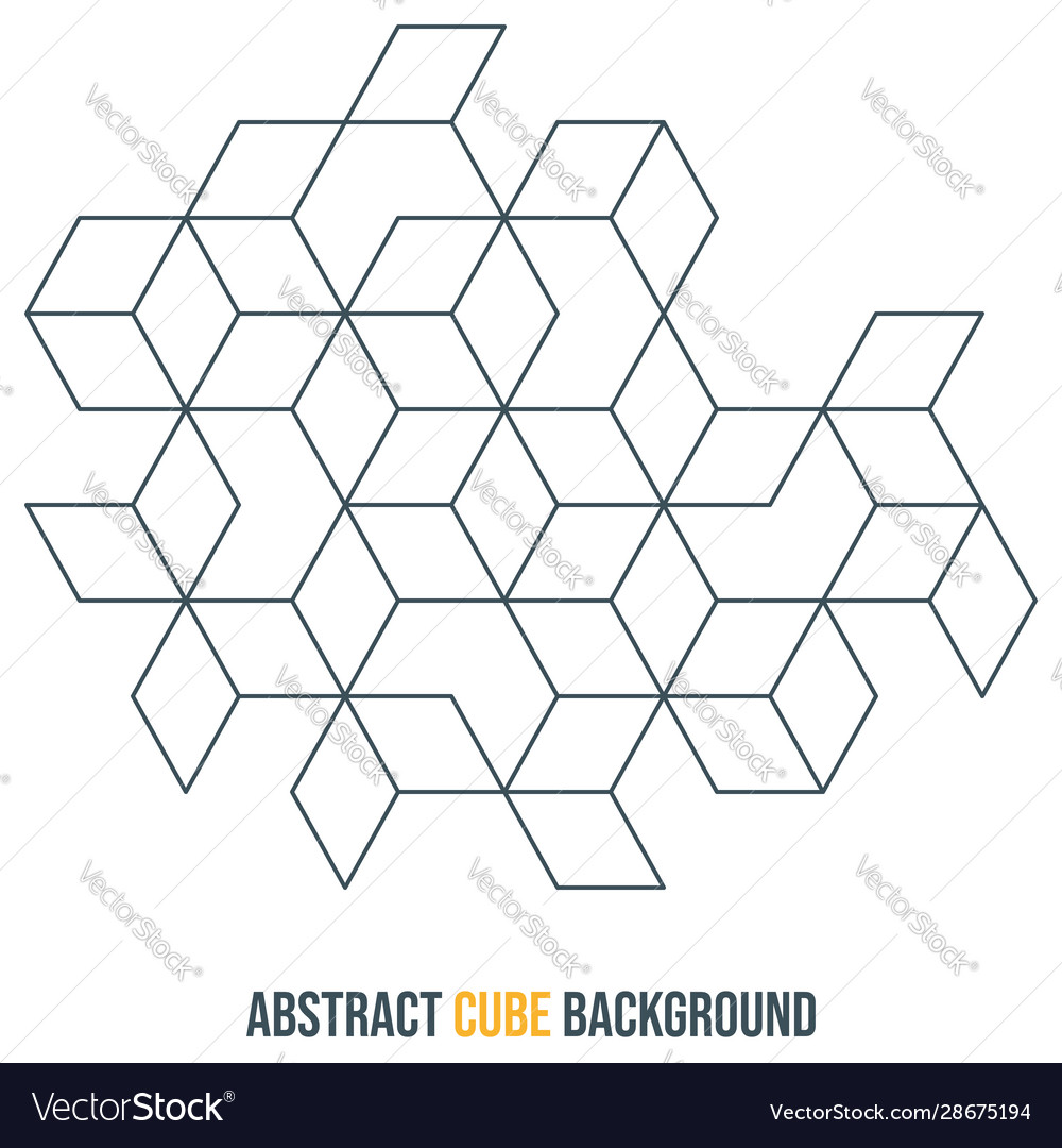 Abstract cube background