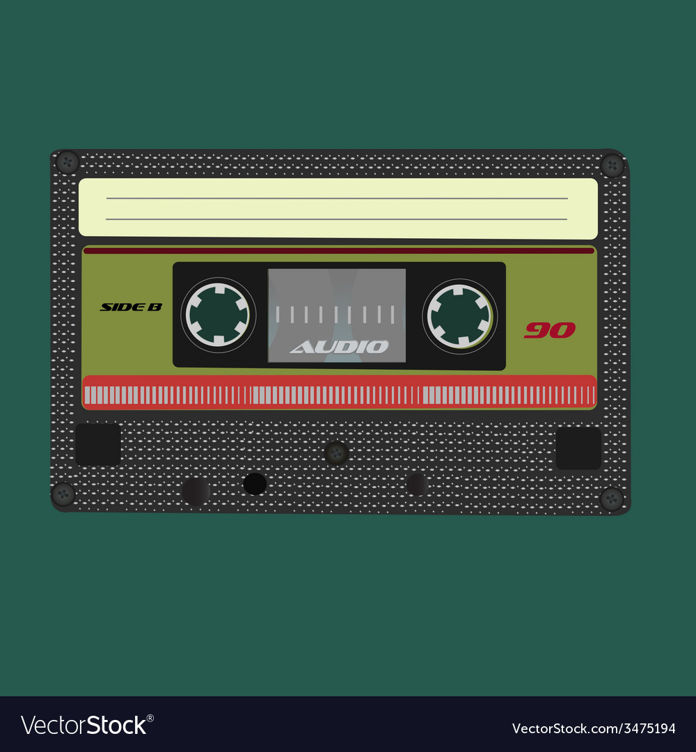 Audio cassete Isolated on white background vector image
