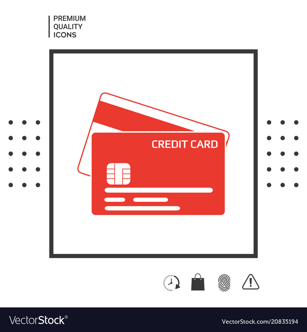Credit card with a chip and magnetic stripe - ico vector image on  VectorStock