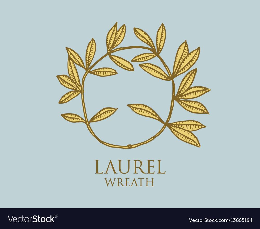 Logo ancient greece antique symbol laurel